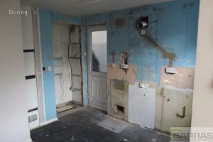 kitchen stripped down
