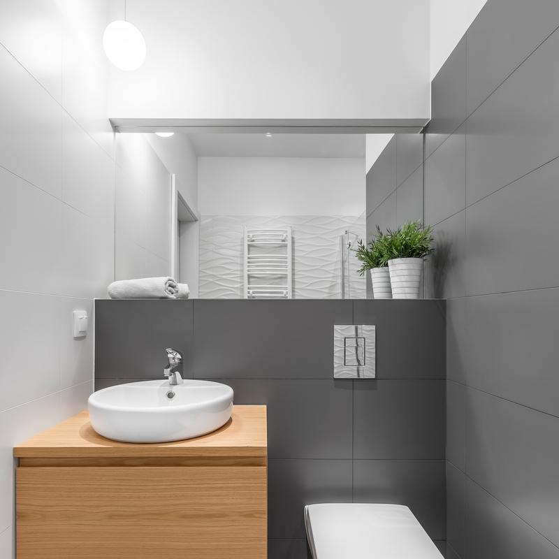 Small Grey Bathroom